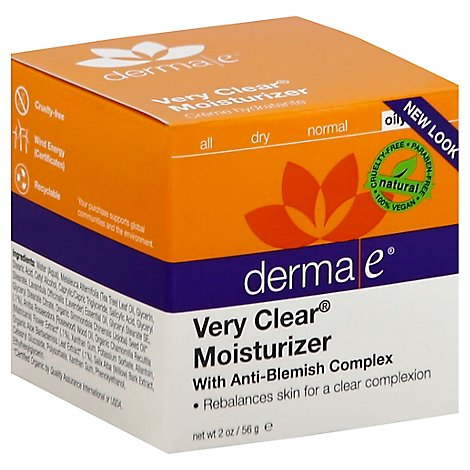 Derma E Very Clear Moisturizer Oily - 2 Oz