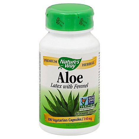 Natures Way Aloe Latex & Leaf Certified 550 mg Vcaps - 100 Count