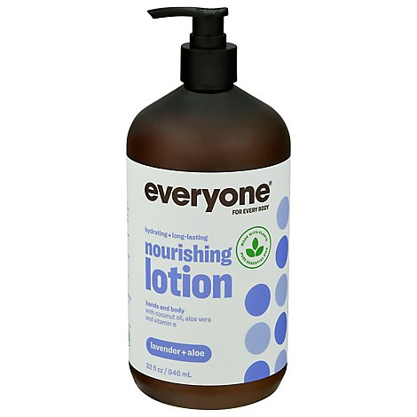 Everyone For Everyone and Every Body Lotion Face Hands Body Lavender + Aloe - 32 Fl. Oz.