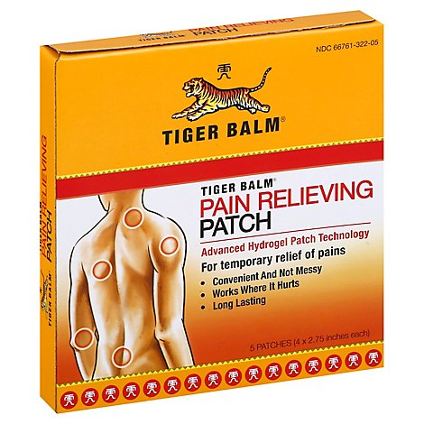 Tiger Balm Patch Pain Relief - 5 Count