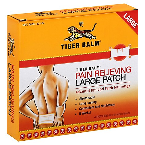 Trgba Balm Patch Lrg - 4 Count