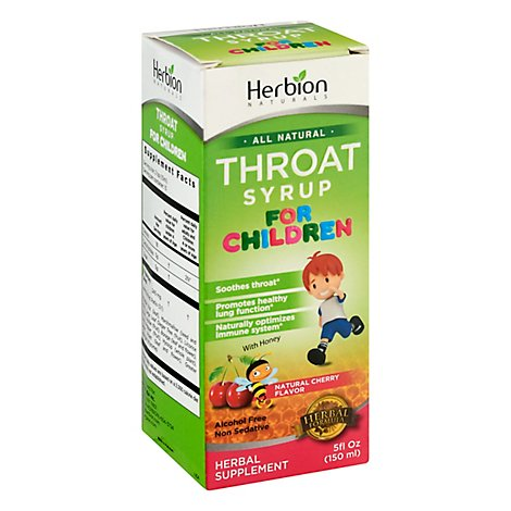 Herbion  Syrup Kids Throat Cherry - 5 Fl. Oz.