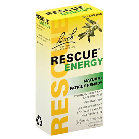 Bach Rescue Energy Fatigue Remedy Natural Spray - .7 Oz