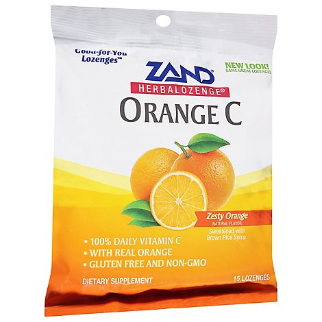 ZAND HerbalOzenge Orange C LOzenges Zesty Orange - 15 Count