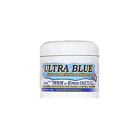 Natural Treasures Ultra Blue Msm & Emu Oil - 4.0 Oz