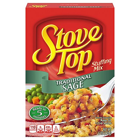 Stove Top Stuffing Mix Traditional Sage Box - 6 Oz
