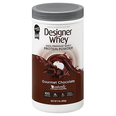 Designer Whey Protein Powder Gourmet Chocolate - 32 Oz