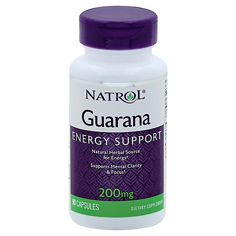 Natrol Guarana 200 mg Capsules - 90 Count