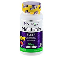 Natrol Melatonin Fast Dissolve 10 mg Citrus Punch Flavor - 60 Count