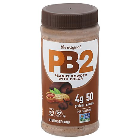 PB2 Peanut Butter Powdered with Premium Chocolate - 6.5 Oz