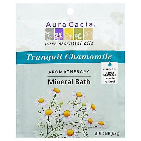Aura Cacia Mineral Bath Aromatherapy Relaxing Lavender - 2.5 Oz
