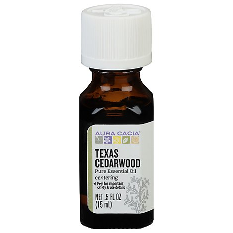 Aura Cacia Essential Oil 100% Pure Texas Cedarwood - .5 Fl. Oz.