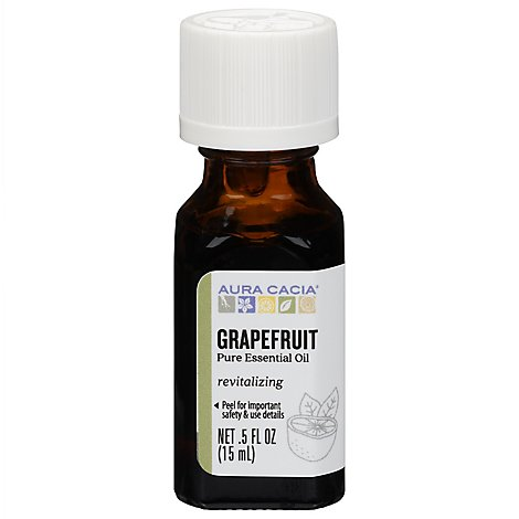 Aura Cacia Essential Oil 100% Pure Grapefruit - .5 Fl. Oz.