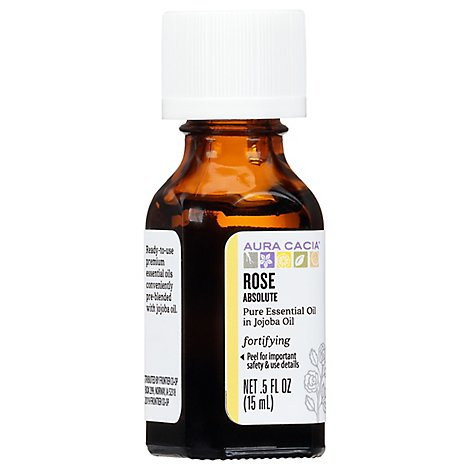 Aura Cacia Rose Absolute in Jojoba Oil - .5 Fl. Oz.