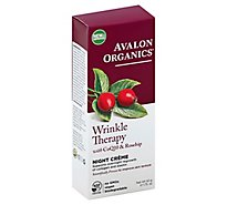 Avalon Organics Night Creme Wrinkle Defense CoQ10 Repair - 1.75 Oz
