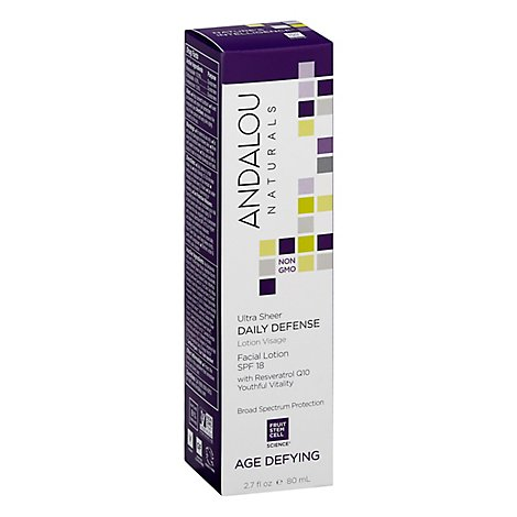 Andalou Naturals Facial Lotion with SPF 18 Daily Defense Age Defying - 2.7 Fl. Oz.