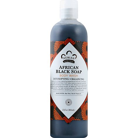 Nubian Heritage Body Wash African Black Soap - 13 Oz