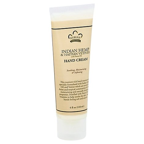 Nubian Heritage Hand Cream Indian Hemp & Haitian Vetiver - 4 Oz