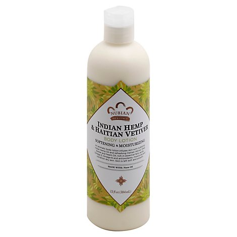 Nubian Heritage Body Lotion Indian Hemp & Haitian Vetiver with Neem Oil - 13 Oz
