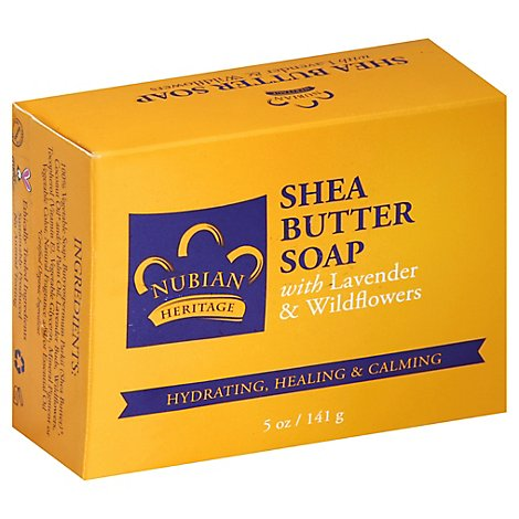 Nubian Heritage Soap Shea Butter with Lavender & Wildflowers - 5 Oz