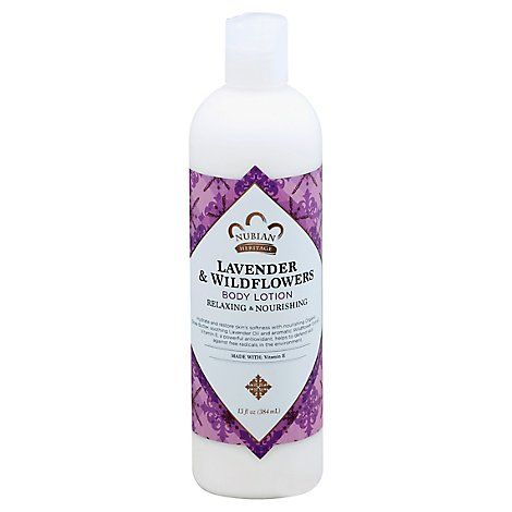 Nubian Heritage Body Lotion Lavender & Wildflowers - 13 Oz