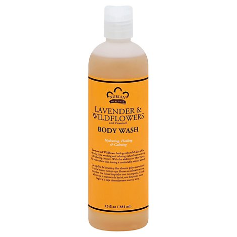 Nubian Heritage Body Wash Lavender & Wildflowers with Vitamin E - 13 Oz