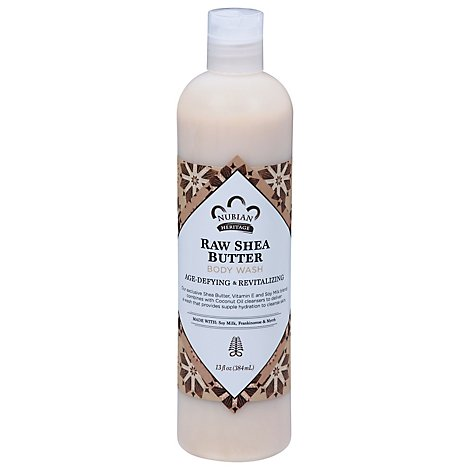Nubian Heritage Body Wash Raw Shea Butter - 13 Oz