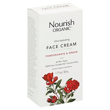 Nourish Organic Face Cream Ultra Hydrating Normal to Dry Skin - 1.7 Oz