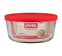 Pyrex Simply Store Glass Storage 4 Cup Round - Each