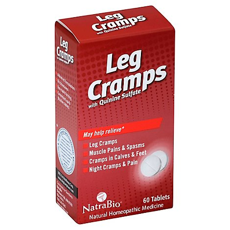 NatraBio Leg Cramps with Quinine Sulfate Tablets - 60 Count
