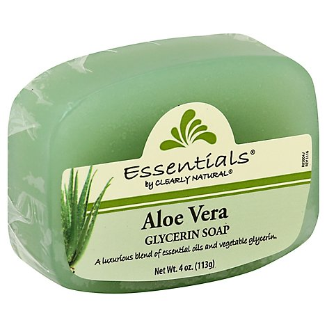 Clearly Natural Essentials Glycerine Soap Pure And Natural Aloe Vera - 4 Oz