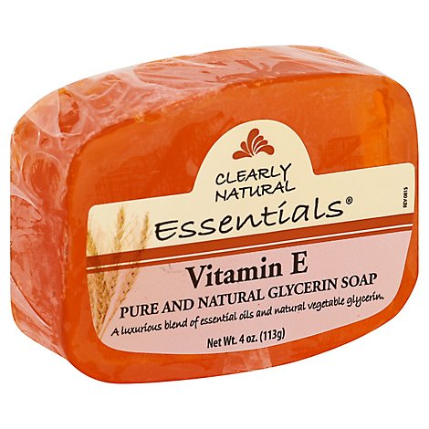 Clearly Natural Essentials Glycerine Soap Pure And Natural Vitamin E - 4 Oz