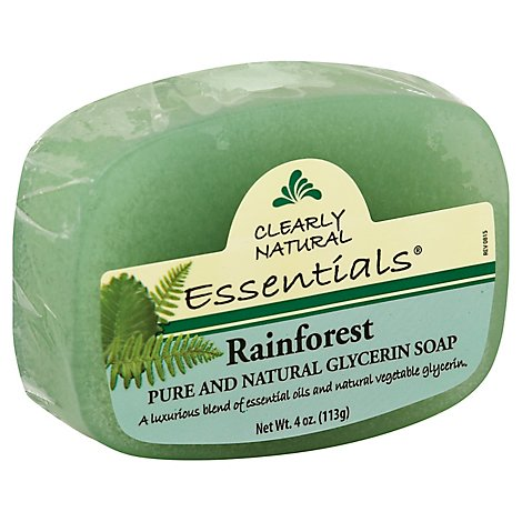 Clearly Natural Essentials Glycerine Soap Pure And Natural Rainforest - 4 Oz