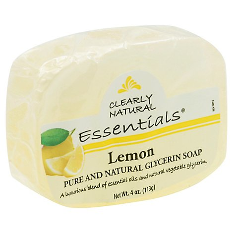 Clearly Natural Essentials Glycerine Soap Pure And Natural Lemon - 4 Oz