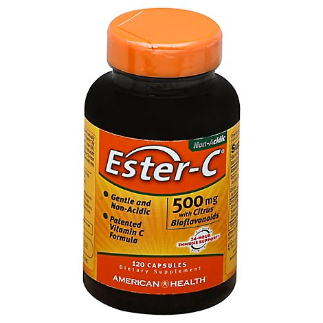 Amhth Ester C 500mg Ctrs Bioflvnds - 120.0 Count