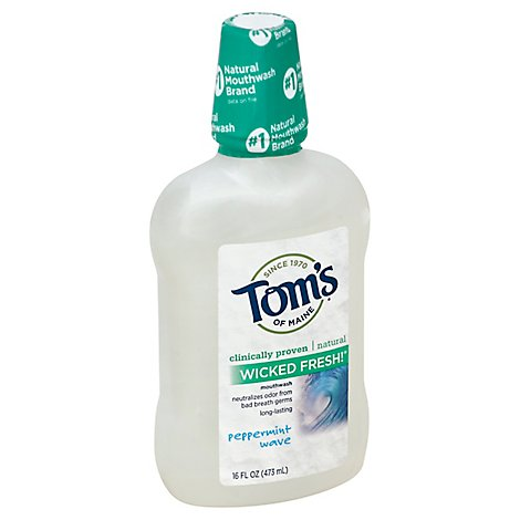 Toms Of Maine Mouthwash Wicked Fresh! Mouthwash Peppermint Wave - 16 Fl. Oz.