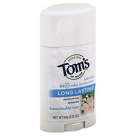 Toms Of Maine Deodorant Long Lasting Honeysuckle Rose - 2.25 Oz