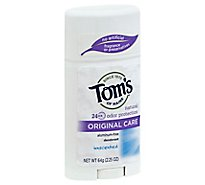 Toms of Maine Deodorant Original Care Unscented - 2.25 Oz