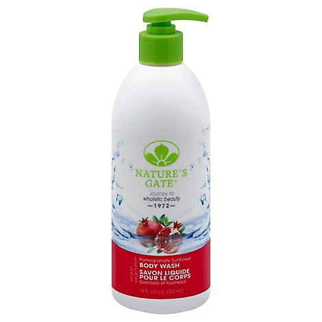 Natures Gate Body Wash Velvet Moisture Pomegranate Sunflower - 18 Oz