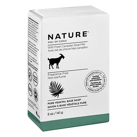 Nature Soap Pure Vegetable With Fresh Goats Milk Fragrance Free - 5 Oz