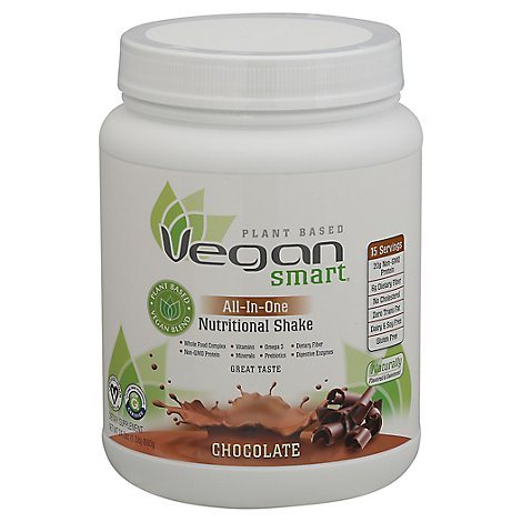 Naturade Vegan Smart Nutritional Shake All-In-One Chocolate - 24.34 Oz