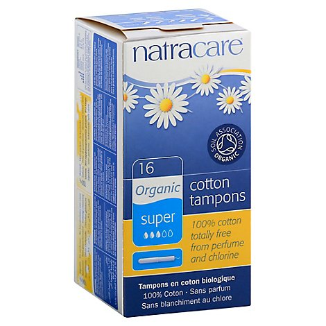 Natracare Tampons With Applicator Super - 16 Count