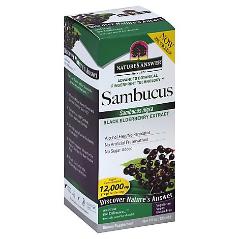 Natures Answer Sambucus Super Concentrated 5000 mg Extract - 4 Oz