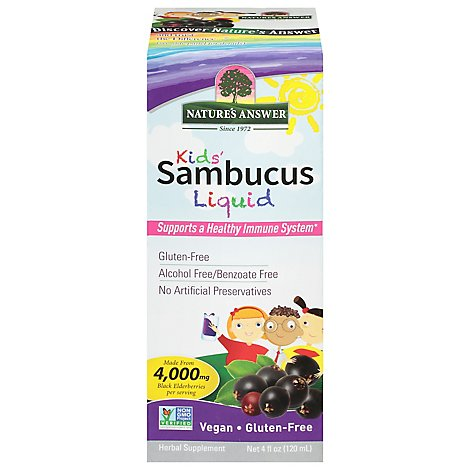 Natures Answer Sambucus Kids Formula - 4 Oz