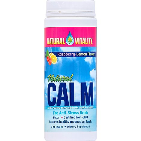 Natural Vitality Natural Calm Anti-Stress Drink Raspberry-Lemon Flavor - 8 Oz