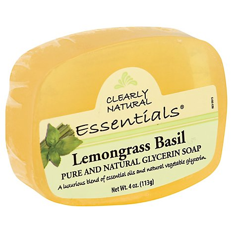 Clearly Natural Essentials Glycerine Soap Lemongrass Basil - 4 Oz
