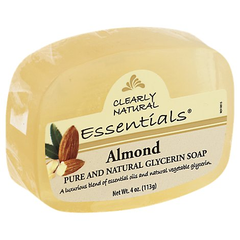 Clearly Natural Essentials Glycerine Soap Almond - 4 Oz
