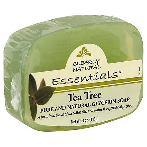 Clearly Natural Essentials Glycerine Soap Tea Tree - 4 Oz
