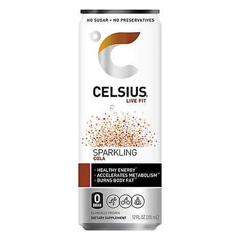 Celsius Calorie Reducing Drink Sparkling Cola - 12 Oz