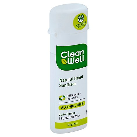 CleanWell Hand Sanitizer Natural Original - 1 Oz
